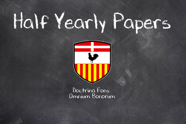 Half Yearly past papers 2017